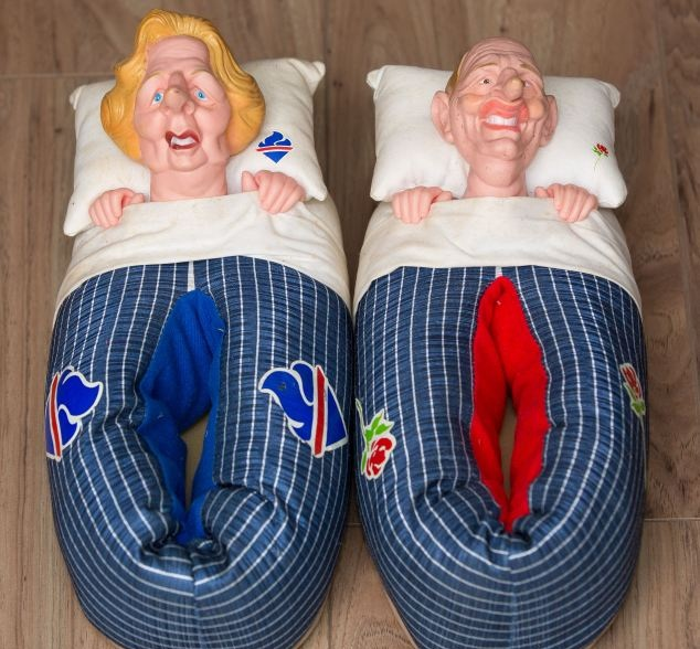 Spitting Image Thatcher/Kinnock slippers